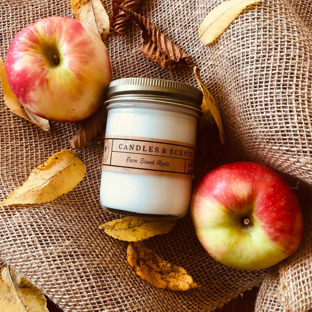 Farm Stand Apple 8 oz Candle Jar by Rural Farm Co.