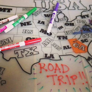 Foldable Silicone Map Placemat by GoSili