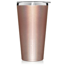 Load image into Gallery viewer, Glitter Rose Gold Imperial Pint (20 oz) by Brumate