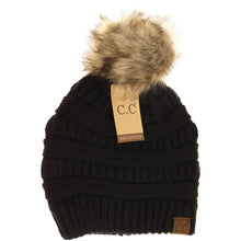 Load image into Gallery viewer, Fur Pom Hat - Multiple Colors - by CC Beanie