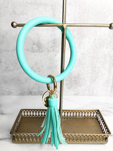 Mint Tassel Bracelet Key Chain by Lauren Lane