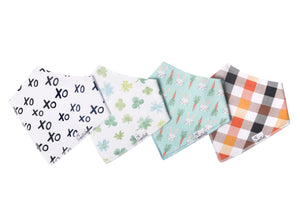 Holiday Bandana Bibs (4 pc. set) by Copper Pearl