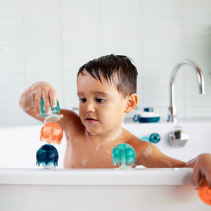 Jellies Suction Cup Bath Toy (Navy Multi) by Boon