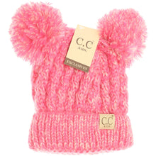Load image into Gallery viewer, Littles Multi Double Pom Hat - Multiple Colors - by CC Beanie