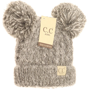 Littles Multi Double Pom Hat - Multiple Colors - by CC Beanie