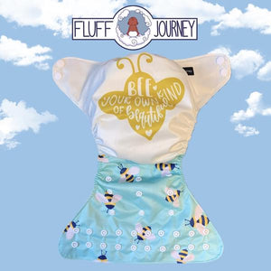 Be Your Own Kind of Beautiful Cloth Diaper by Fluff Journey