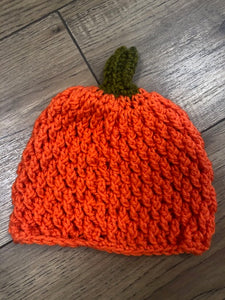 Pumpkin Hat in Bright Orange - Multiple Sizes by Needlework Niche