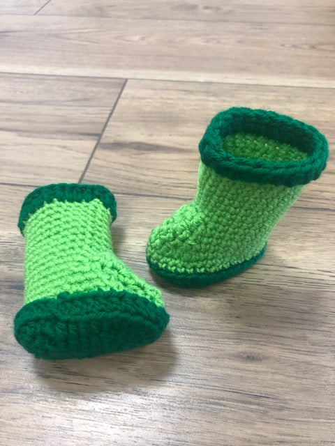 Lime Green Rainbooties by Needlework Niche