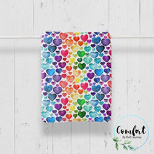 Load image into Gallery viewer, Rainbow Hearts Comfort Kid Blanket by Fluff Journey