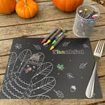Small Thankful Chalkboard Placemat by Imagination Starters