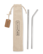 Stainless Steel Reusable Straw Set by Brumate