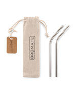 Load image into Gallery viewer, Stainless Steel Reusable Short Straw Set by Brumate