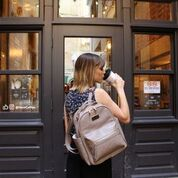 Load image into Gallery viewer, Mini Backpack in Taupe by Itzy Ritzy