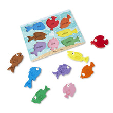 Load image into Gallery viewer, Chunky Colorful Fish Puzzle by Melissa & Doug
