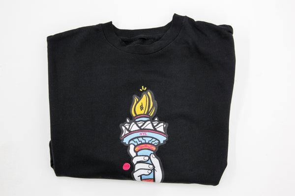 NYC Torch Crewneck Black