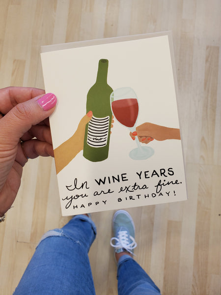In Wine Years Card