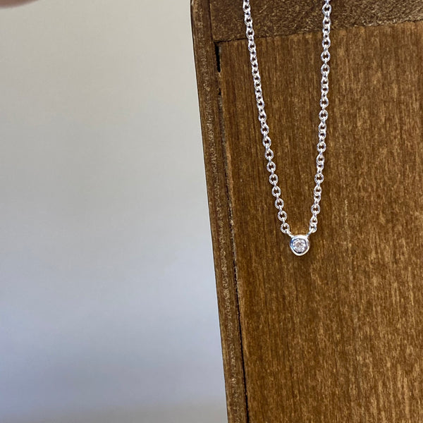 Tiny Solitaire Necklace