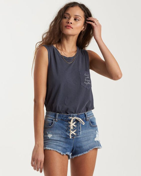 Lite Hearted Denim Shorts