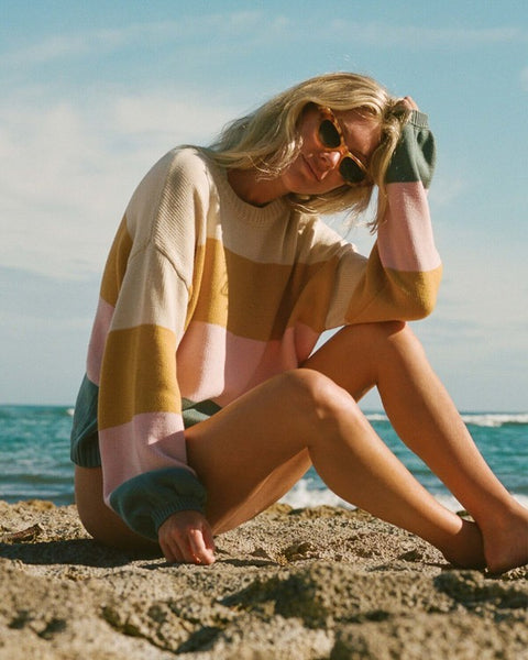 Salty Blonde Day Drifter Sweater