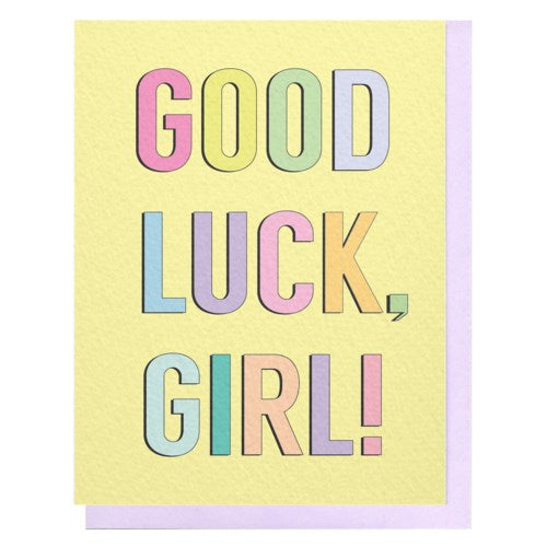 Good Luck, Girl Card