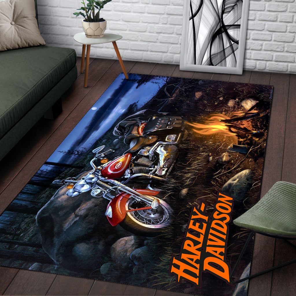 H-D Motorcycle Area RUG - LIMITED V2