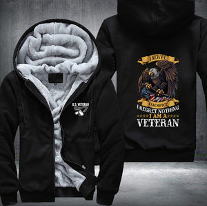 US Veteran Armed Forces Fleece Jacket - LIMITED EDITION ML-486