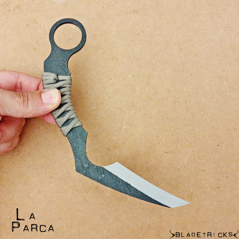La Parca scythe tactical karambit knife
