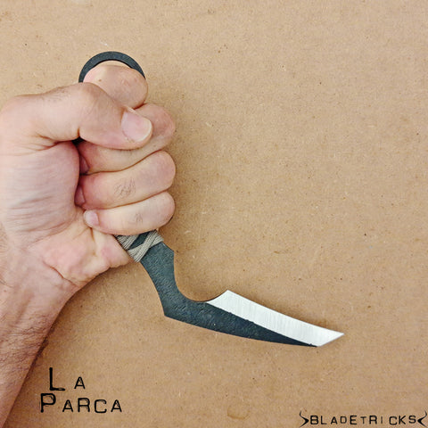BLADETRICKS LA PARCA KARAMBIT, CORD WRAPPED VERSION