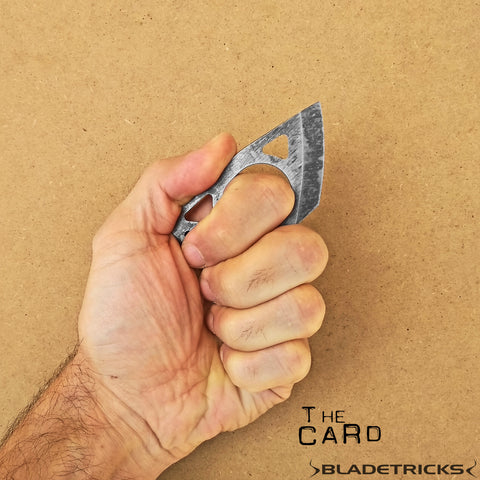 Amazing badass design by Bladetricks The Card tactical knife
