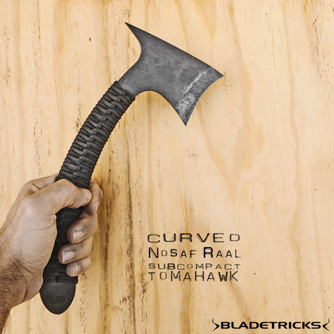 Bladetricks Nosaf Raal Subcompact Tomahawk cord wrapped version