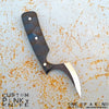 BLADETRICKS CUSTOM PINKY REVERSE GRIP KNIFE, BLACK G10 VERSION