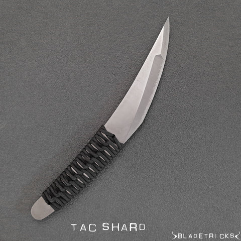 BLADETRICKS CUSTOM TAC SHARD, TITANIUM & CORD WRAPPED