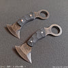 BLADETRICKS CUSTOM COLIBRI KARAMBIT, BLACK G10, ALU OR COPPER