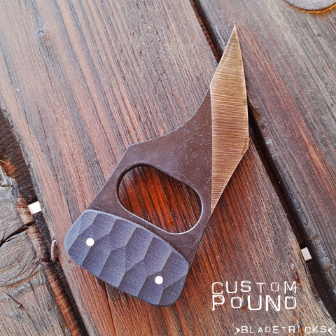 BLADETRICKS CUSTOM POUND PUSH DAGGER, G10 VERSION