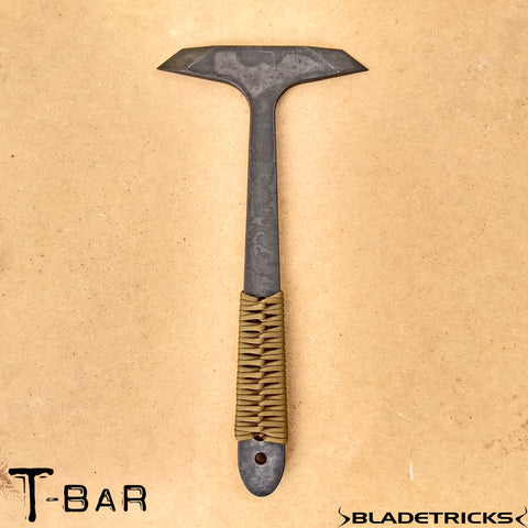 Double bit tomahawk prying T BAR by Bladetricks tactical equipment