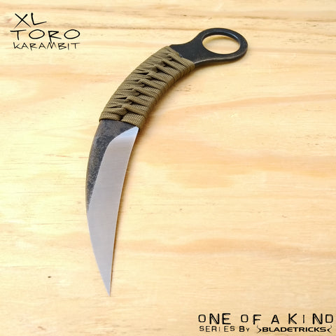 BLADETRICKS CUSTOM XL TORO KARAMBIT, CORD WRAPPED VERSION