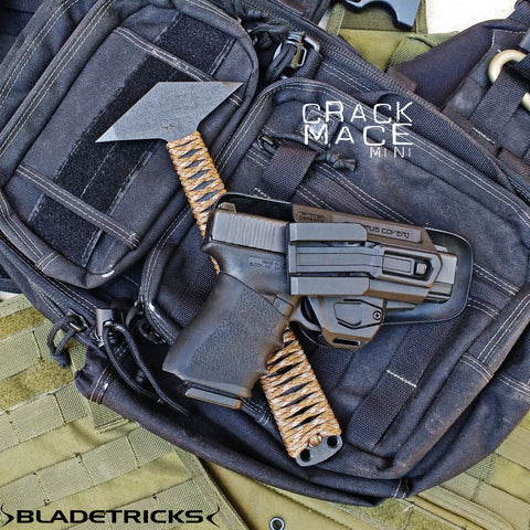 Glock handgun Maxpedition EDC bag Bladetricks tactical Mace