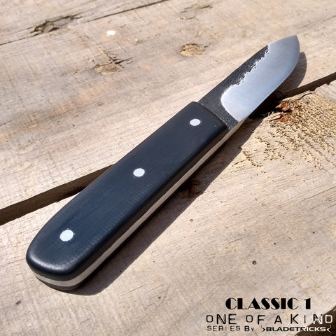 BLADETRICKS CUSTOM CLASSIC 1 KNIFE, BLACK G10 VERSION