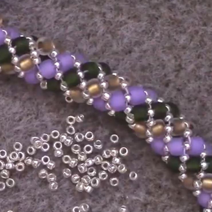 Russian Spiral Beading Stitch Tutorial