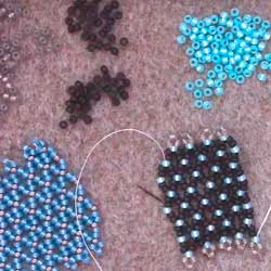 Beginners Netting beading stitch tutorial