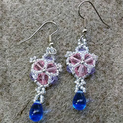 Winter Sparkle Crystal beaded earrings Video Tutorial