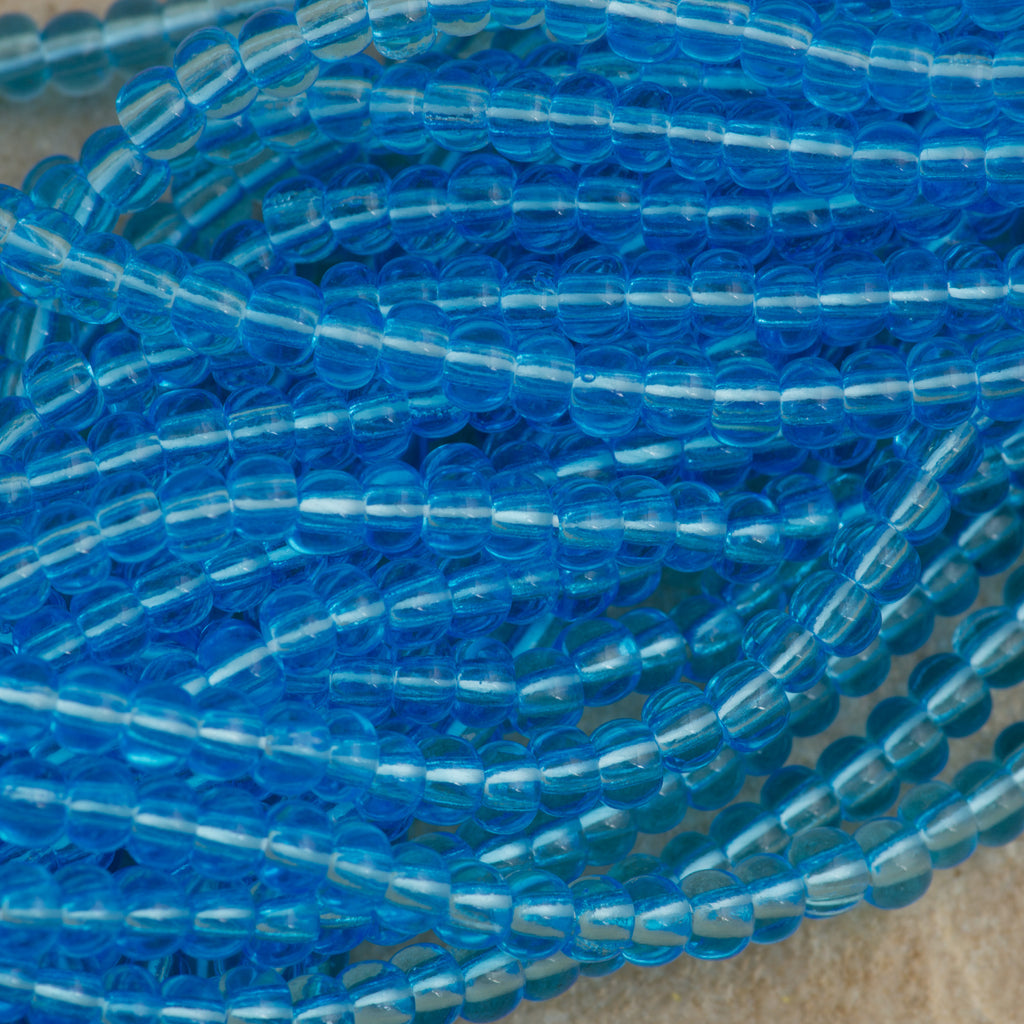 Czech Seed Bead Transparent Aqua 30g 6/0 (60010)