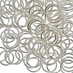 100pc 18ga. Jump Ring 10mm Silver Plated I.D. 8mm