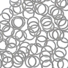100pc Jump Ring 6mm Sterling Silver I.D. 4.4mm