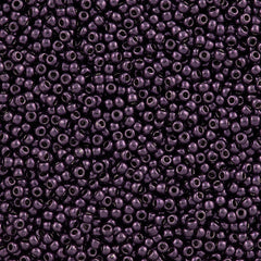50g Toho Round Seed Beads 11/0 Higher Metallic Violet (607)