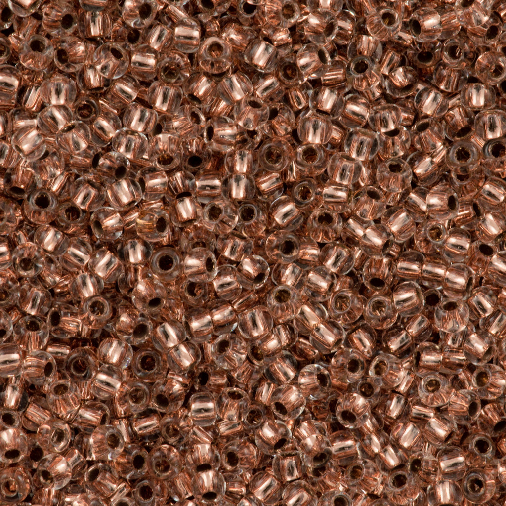 Toho Round Seed Bead 15/0 Copper Lined Crystal 2.5-inch Tube (740)