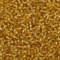 Toho Round Seed Bead 15/0 Silver Lined Medium Gold 10g (22B)