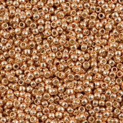 Toho Round Seed Bead 15/0 Permanent Finish Galvanized Rose Gold 2.5-inch Tube (551PF)