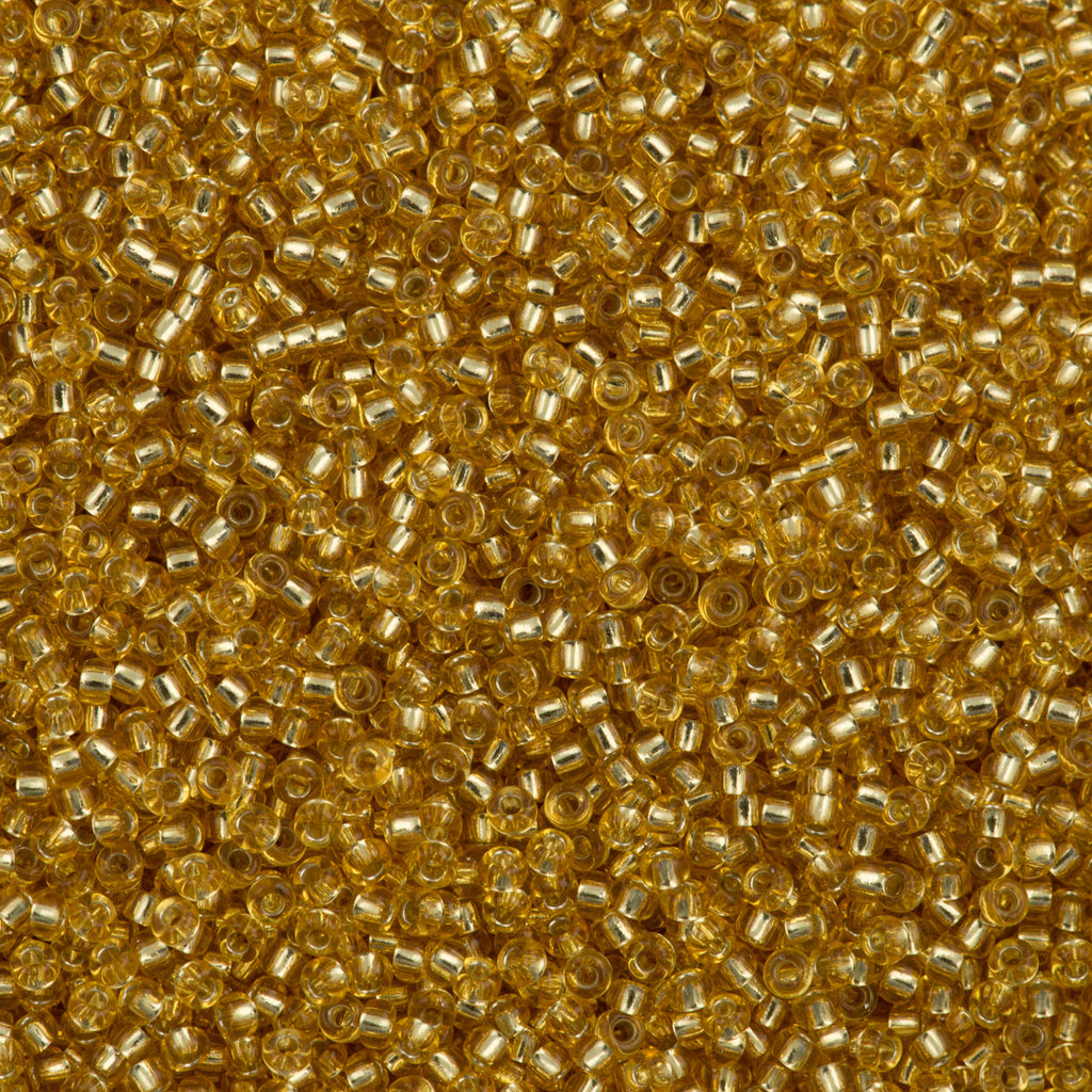 Miyuki Round Seed Bead 11/0 Silver Lined Gold 22g Tube (3)