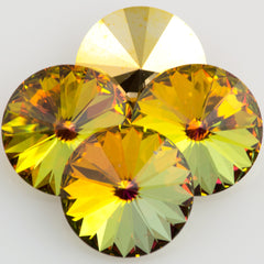 Four Swarovski Crystal 12mm 1122 Rivoli Golden Sahara (001 GLDS)